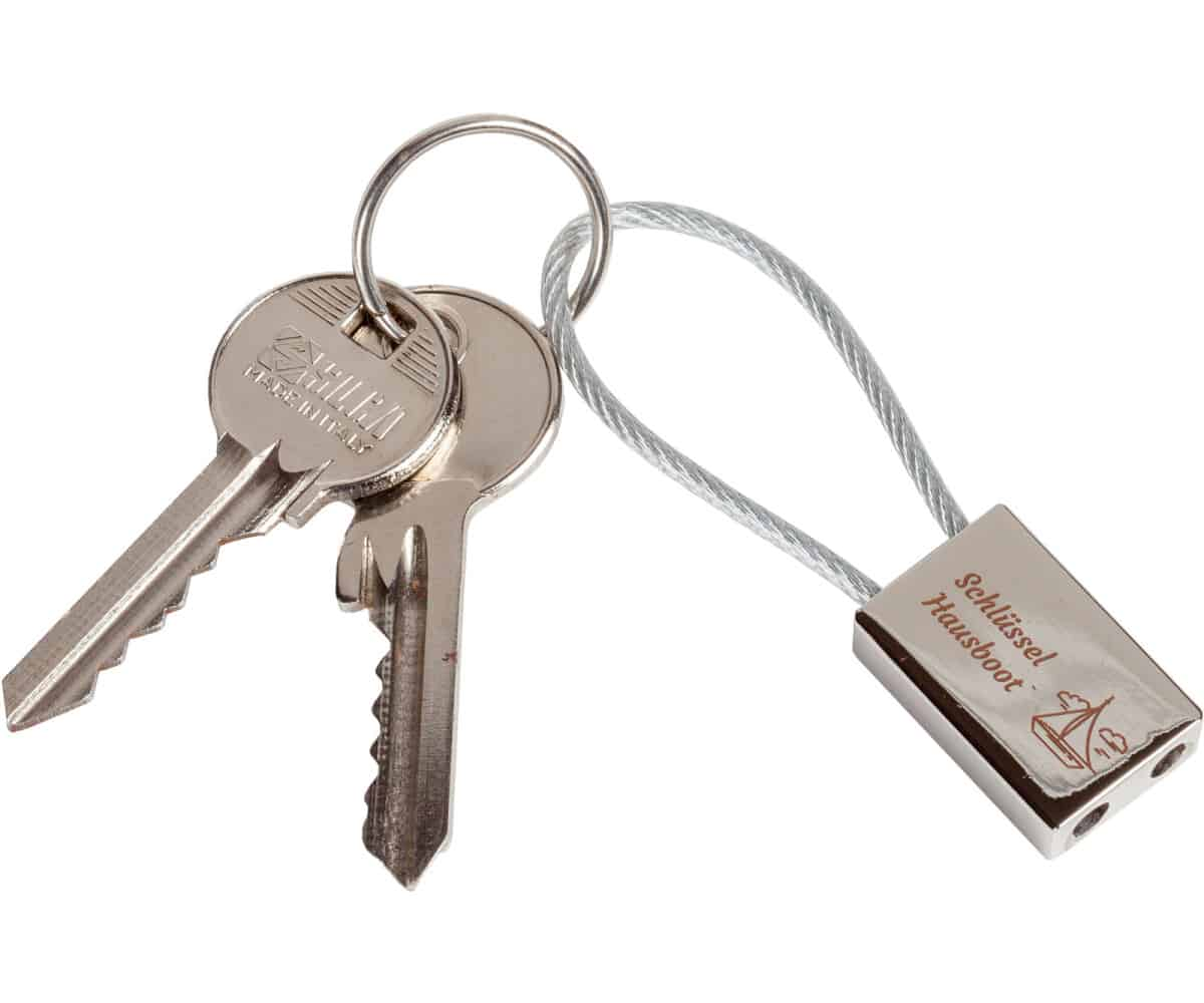 Schlüsselanhänger Stahlseil rechteckig