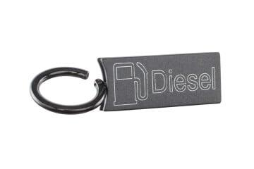 Schlüsselanhänger Clippy grau
