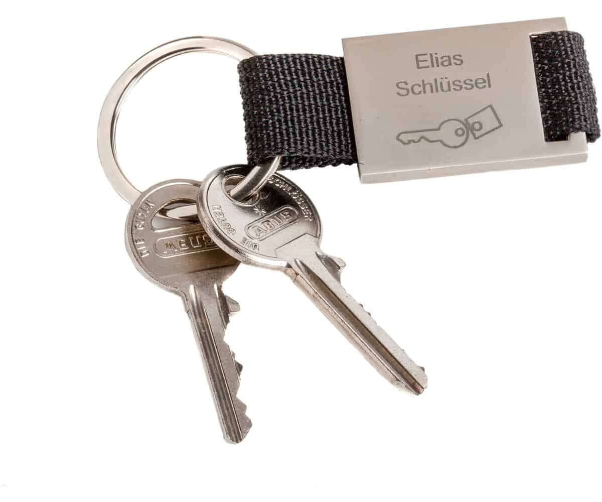 Schlüsselanhänger mit Gurtband